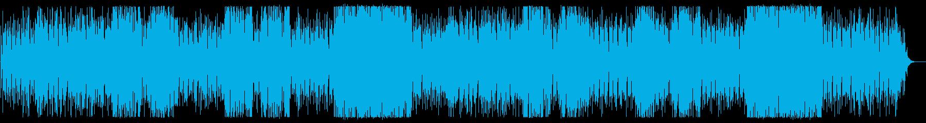 お洒落でカッコいい変則感あるハウスの曲の再生済みの波形