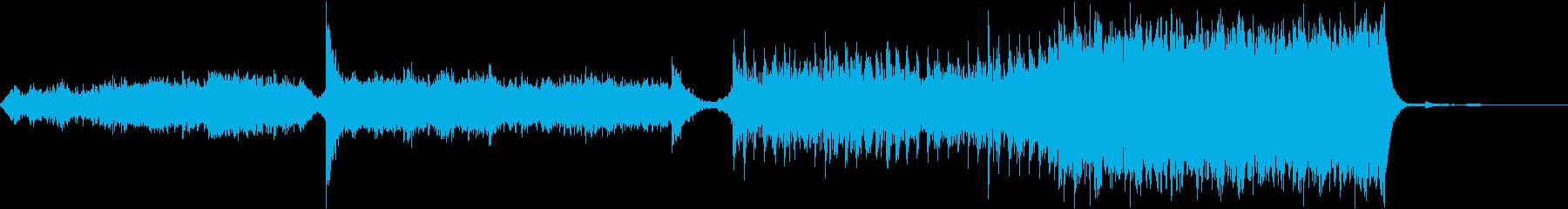 フルオーケストラ、大きく変化するリズム、の再生済みの波形