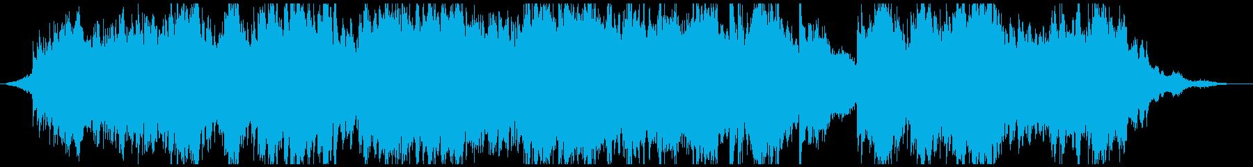 金色に輝くさざ波をイメージした曲の再生済みの波形