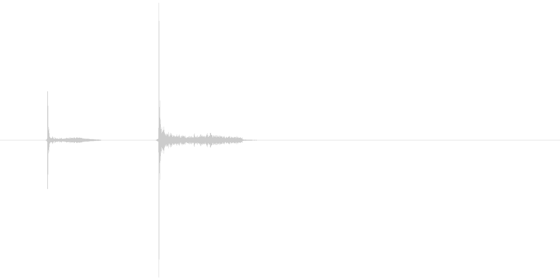 カッ、カッ(チョーク、黒板、書く)の未再生の波形