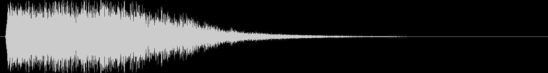 ピコピコ音のパワーアップ コミカル 派手の未再生の波形