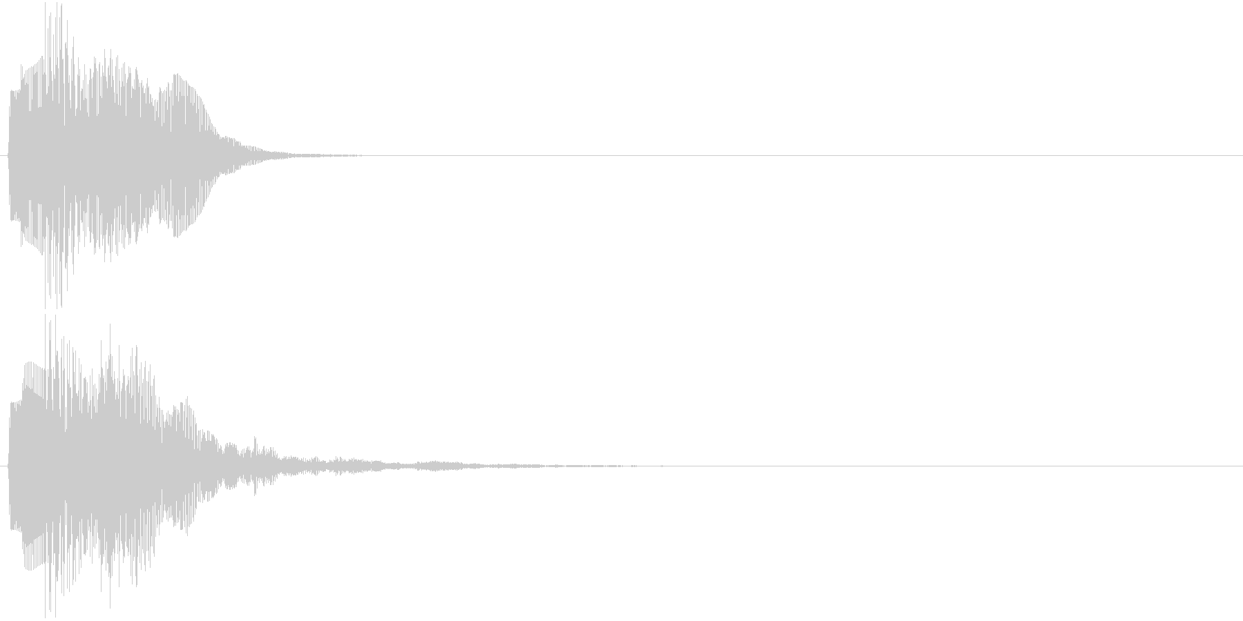 ピララン(決定音)の未再生の波形