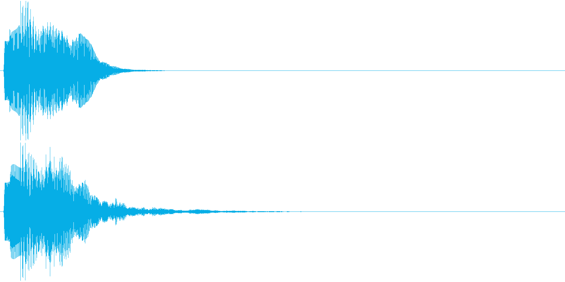 ピララン(決定音)の再生済みの波形