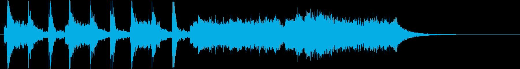 楽しげなバイオリンポップスの再生済みの波形