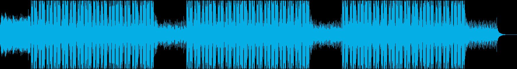 不気味な雰囲気のトラップビートの再生済みの波形