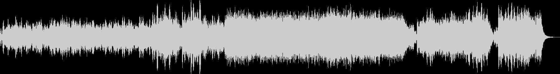 オーケストラによるクリスマスのイメージの未再生の波形