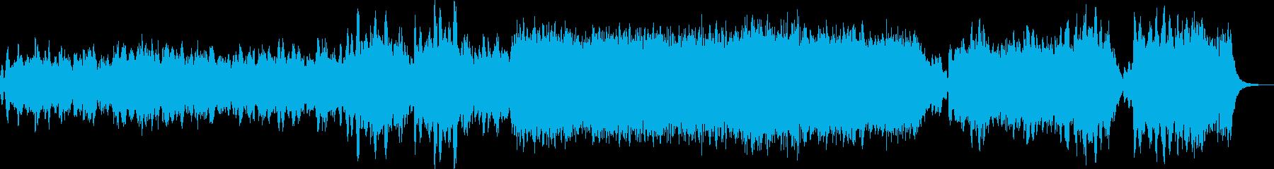 オーケストラによるクリスマスのイメージの再生済みの波形