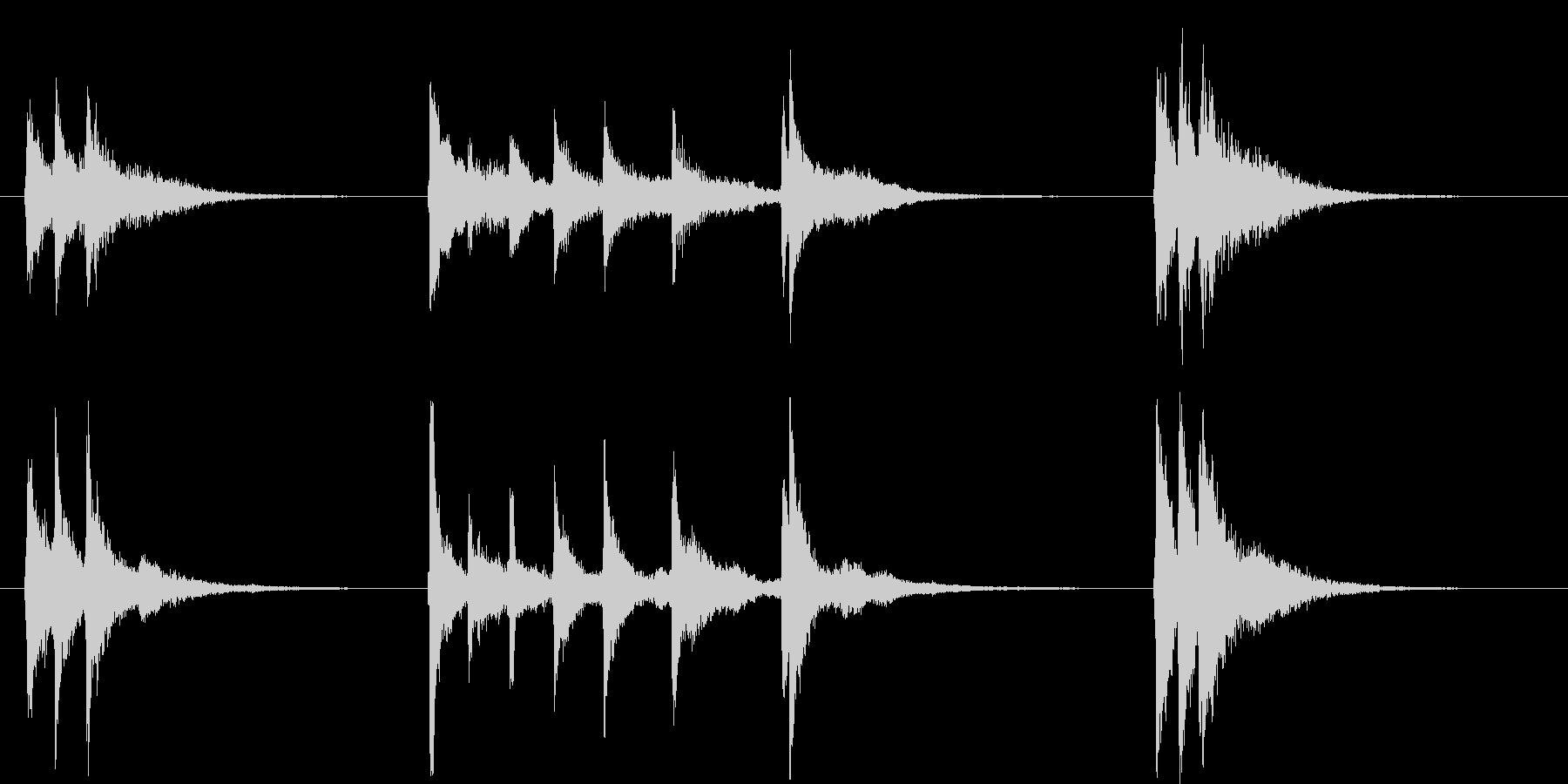 三味線を使った音源ですの未再生の波形