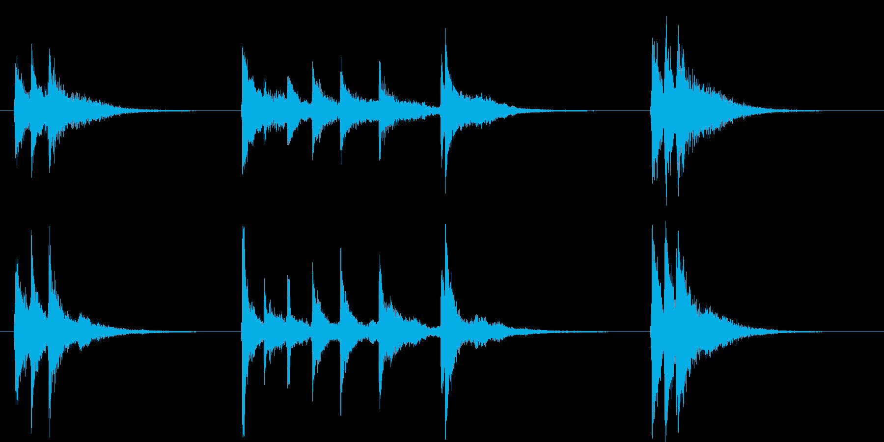 三味線を使った音源ですの再生済みの波形