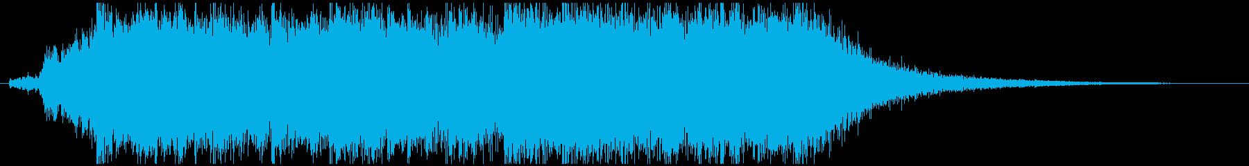 勇ましいシンフォニー系ファンファーレの再生済みの波形