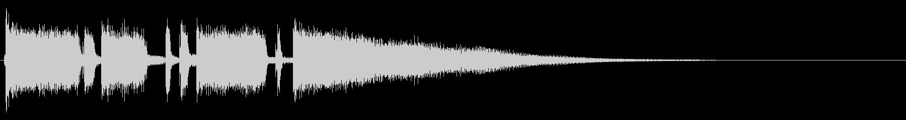 ディストーションギター ジングの未再生の波形