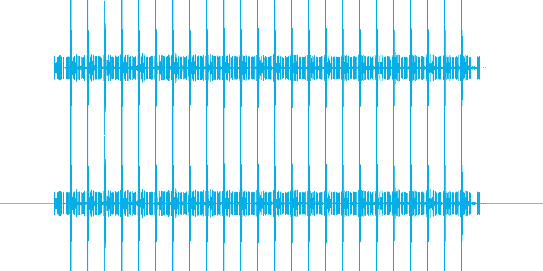 間違い時の電子音/長めの再生済みの波形