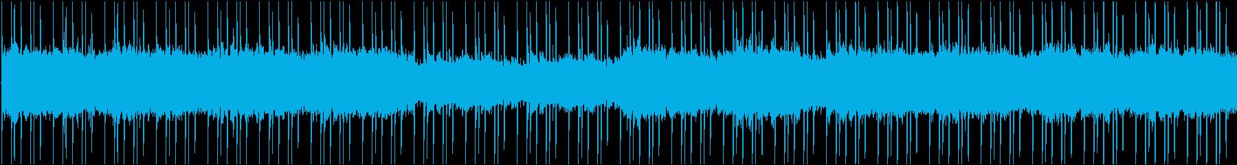 水の流れを思わせるチル系BGMの再生済みの波形