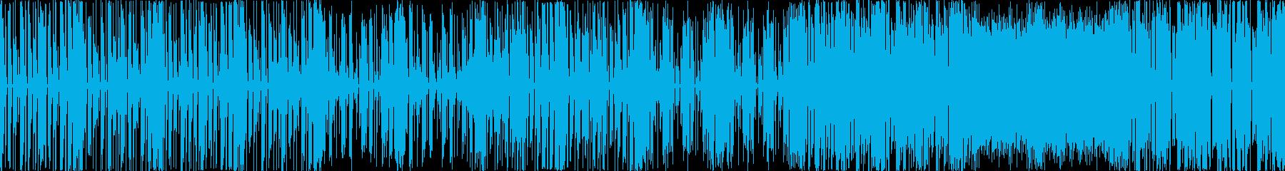 テクノ、エレクトロニカ風BGMの再生済みの波形