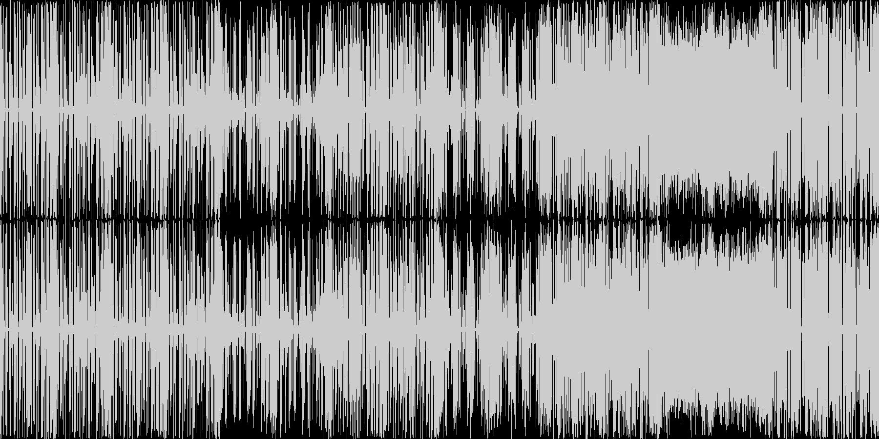 テクノ、エレクトロニカ風BGMの未再生の波形