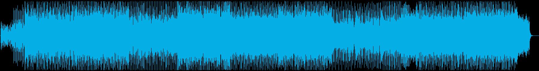 オーケストラロックなバトル風BGMの再生済みの波形