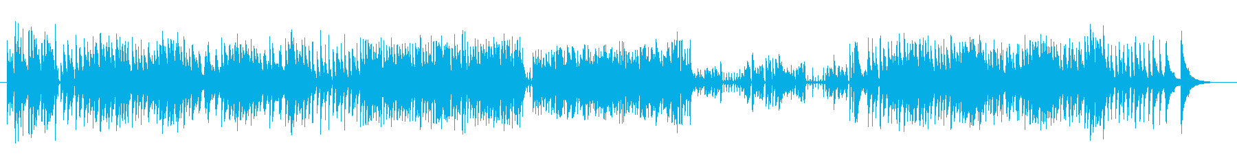 ピアノトリオ風ジャズアレンジの再生済みの波形