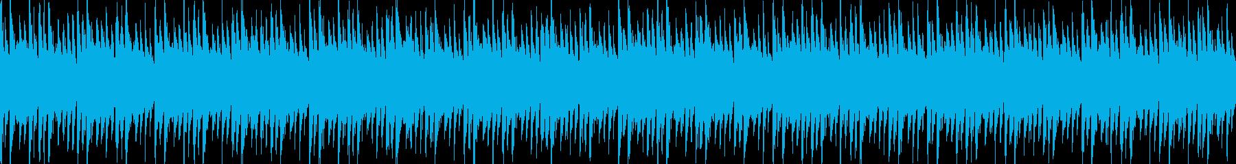 説明時に流れる穏やかなBGMの再生済みの波形