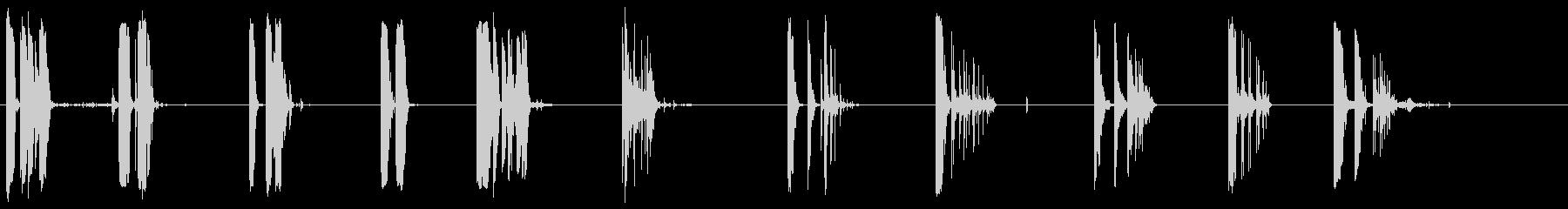 シェルケーシングヒットストーン1-10の未再生の波形