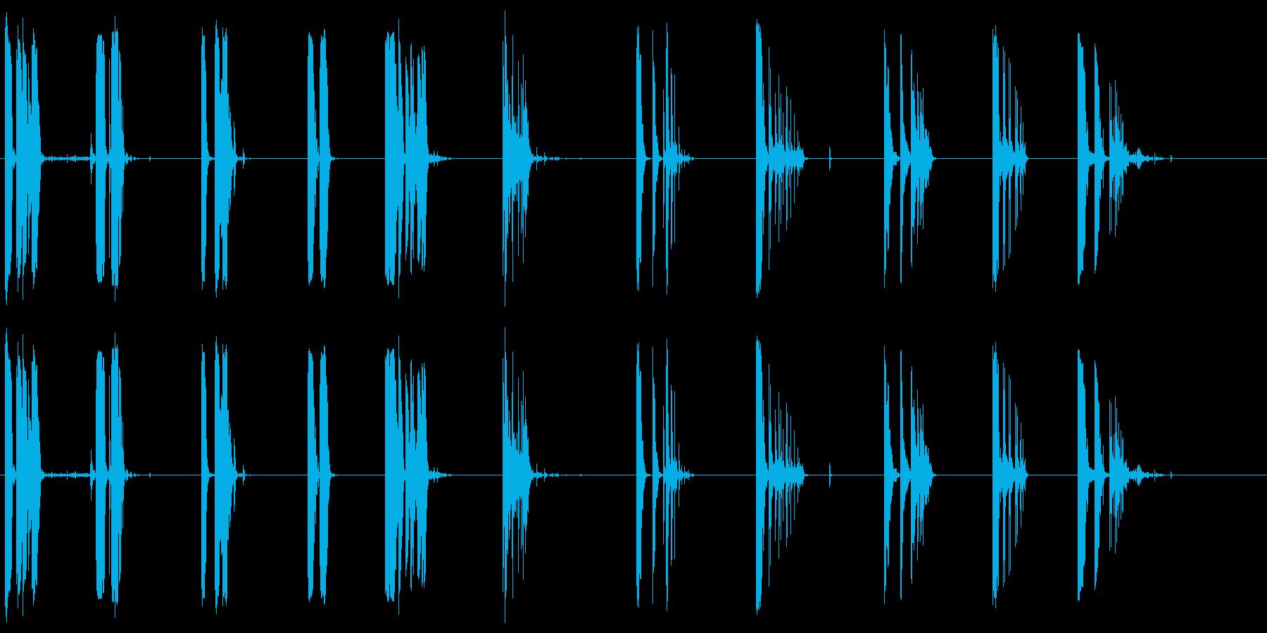 シェルケーシングヒットストーン1-10の再生済みの波形