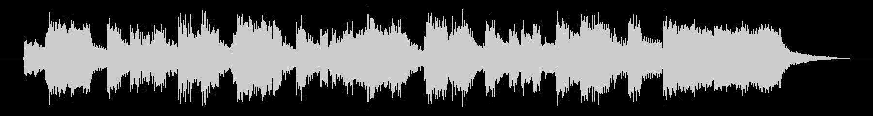 オルガンとピアノによるオシャレなジングルの未再生の波形