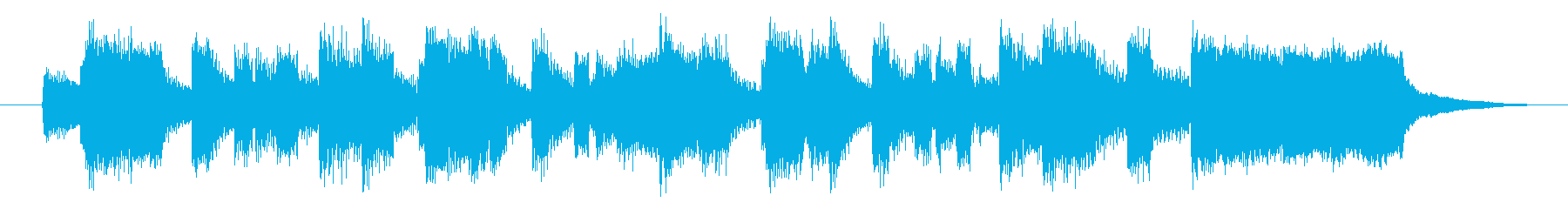 オルガンとピアノによるオシャレなジングルの再生済みの波形