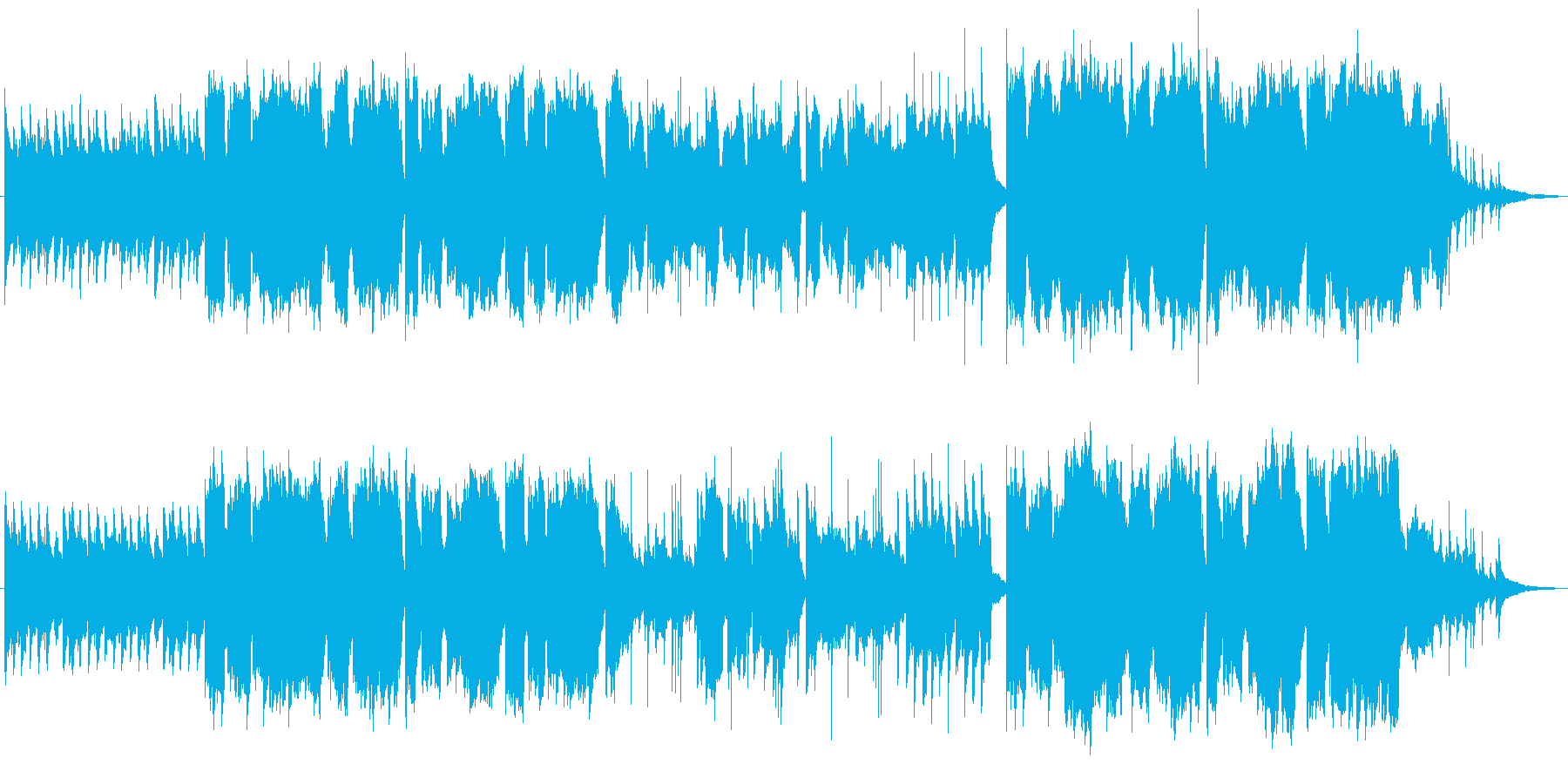 懐かしさを感じるリコーダーメインの曲の再生済みの波形