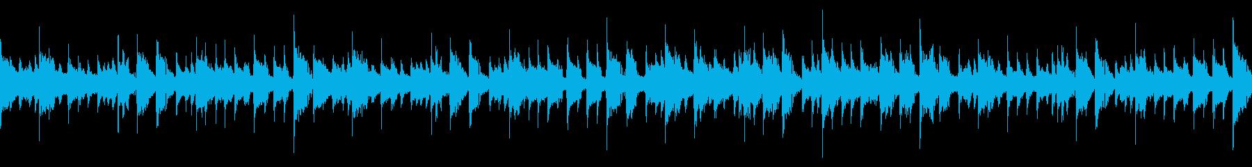 ジャズ風のお洒落なピアノループの再生済みの波形