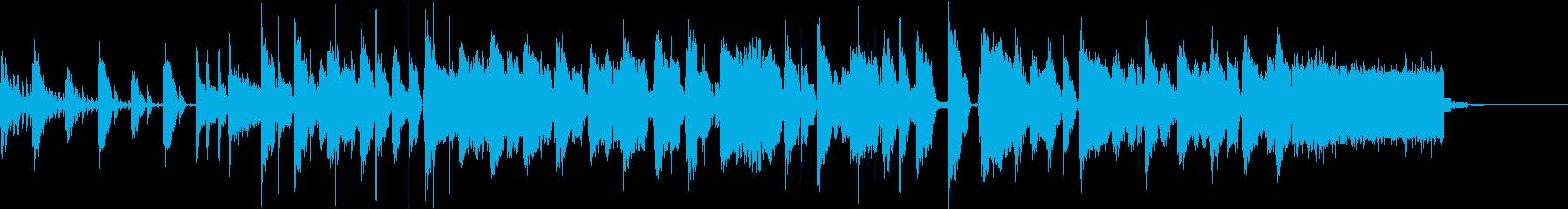 かわいくてポップなディスコ調のCM曲の再生済みの波形