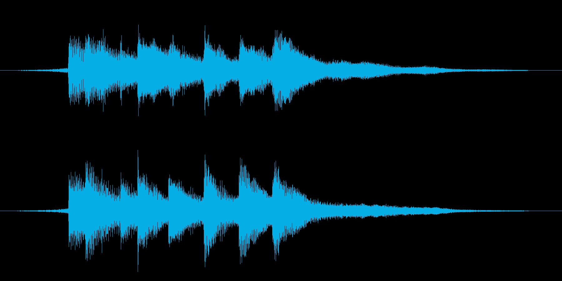 落ち着いたピアノジングル 透明感ニュースの再生済みの波形