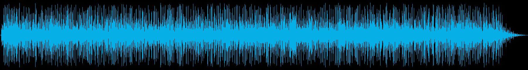 しっとりとした雨の音の再生済みの波形