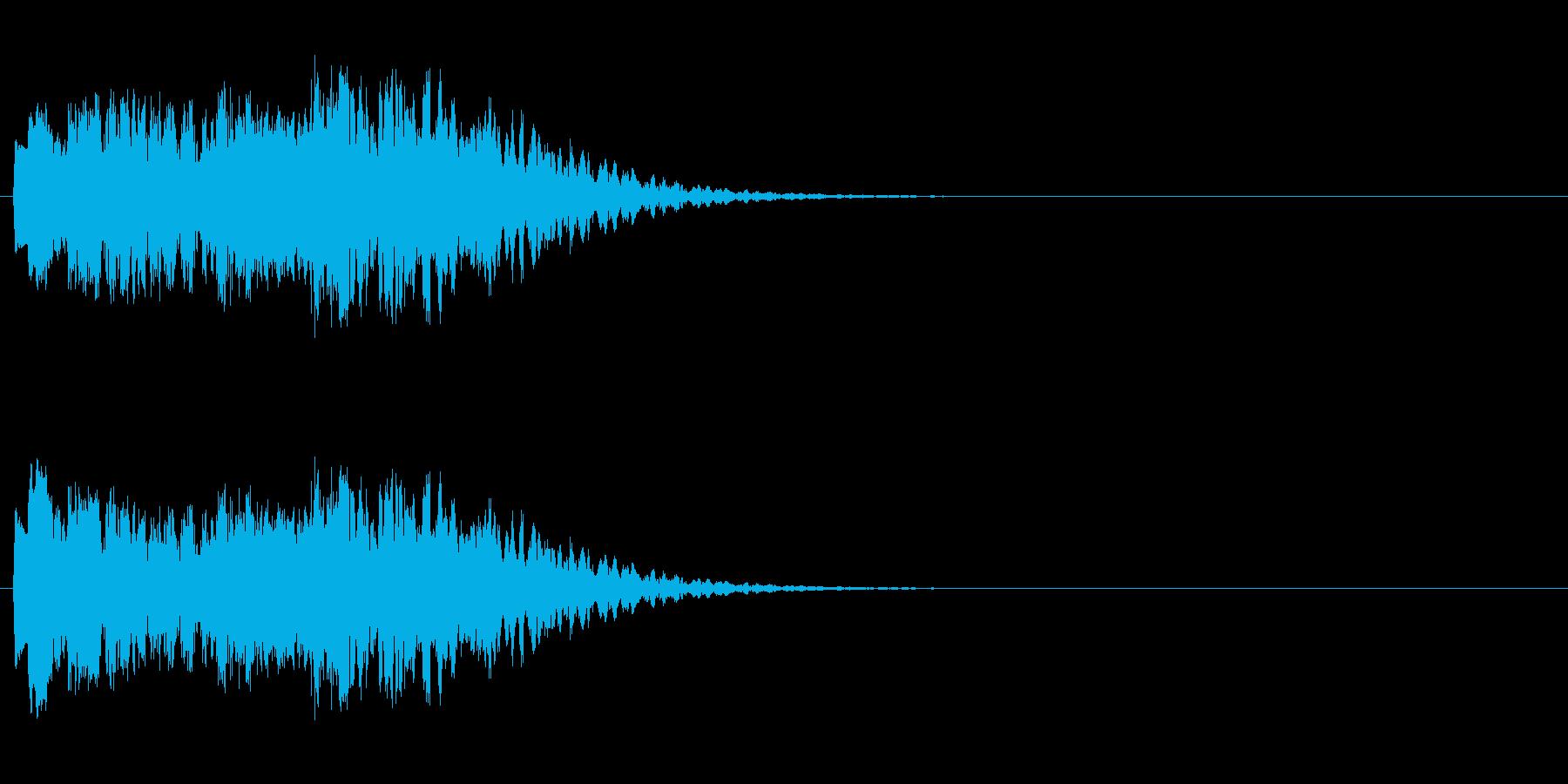 魔法発動の再生済みの波形