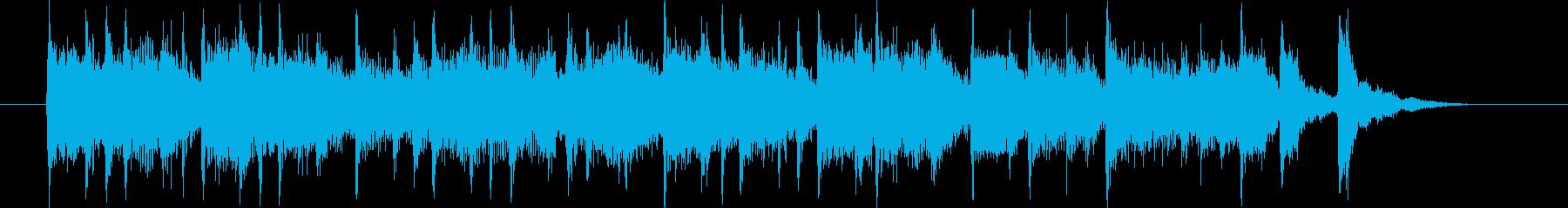 シティポップス的なバンド演奏のジングル曲の再生済みの波形