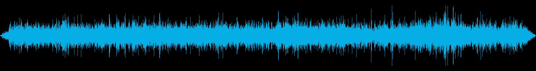 穏やかに流れる水流の再生済みの波形