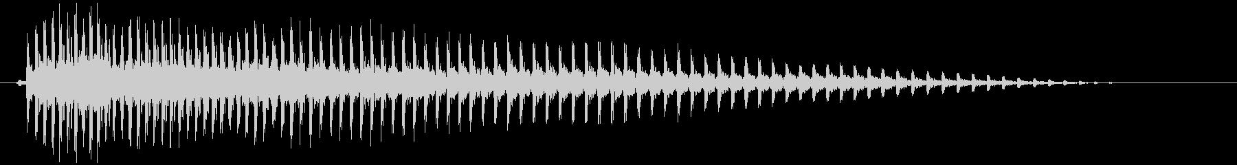 アヒルの鳴き声(鳥笛) クアァーの未再生の波形