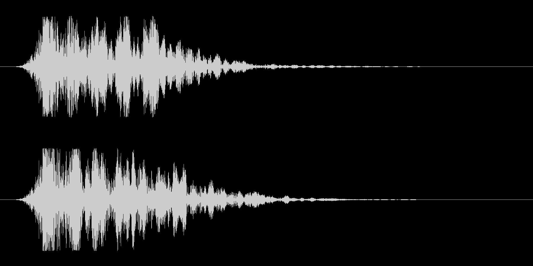 シュードーン-11(インパクト音)の未再生の波形