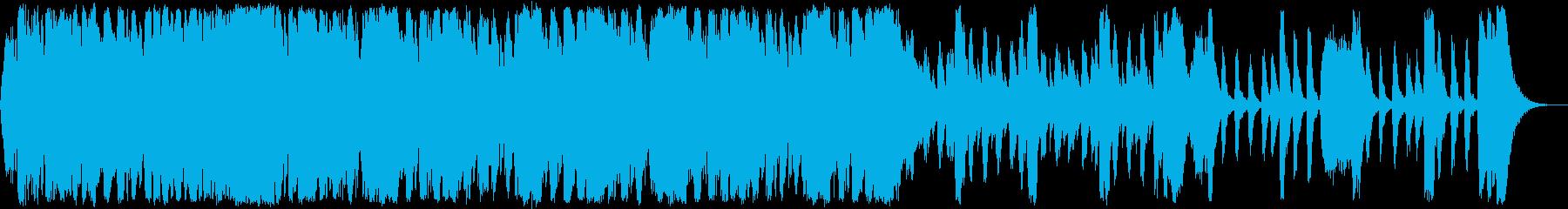 戦国の壮絶な戦い和風エピックオーケストラの再生済みの波形