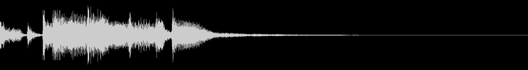 アコースティックギターのジングル・6の未再生の波形