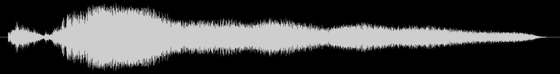 宇宙コンピューター画面テレメトリー...の未再生の波形