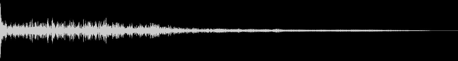ホラー系アタック音9の未再生の波形