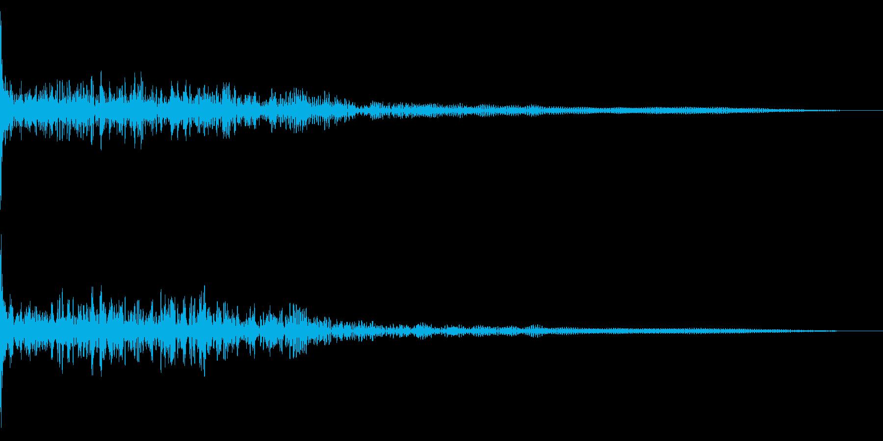 ホラー系アタック音9の再生済みの波形