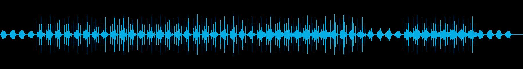 自然の景色に合う曲の再生済みの波形