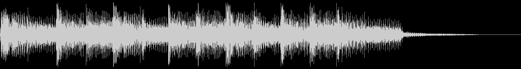 3ピースサウンドのジングルの未再生の波形