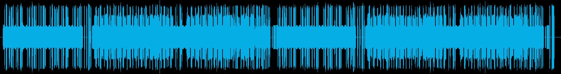 8bit風ユーロビートBGMの再生済みの波形