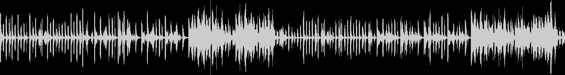 調子の外れたコミカルでかわいい曲 ループの未再生の波形