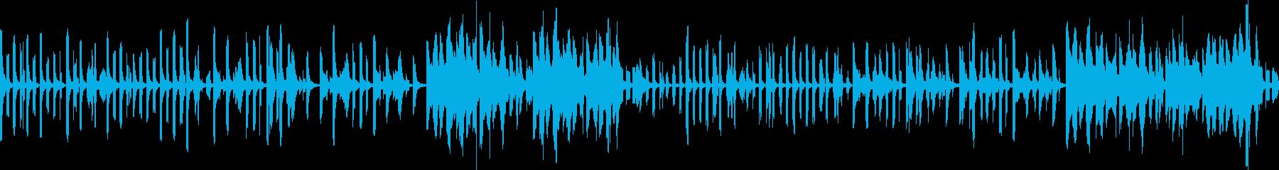 調子の外れたコミカルでかわいい曲 ループの再生済みの波形