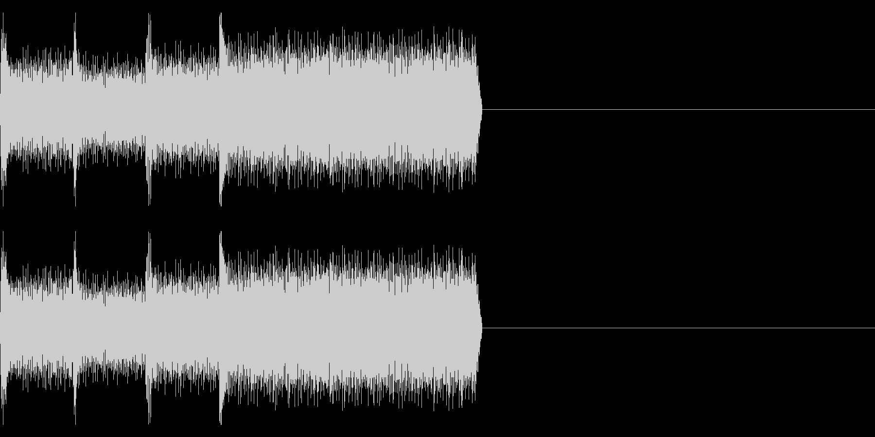 「デレレレー」不吉、ゲームオーバーの未再生の波形