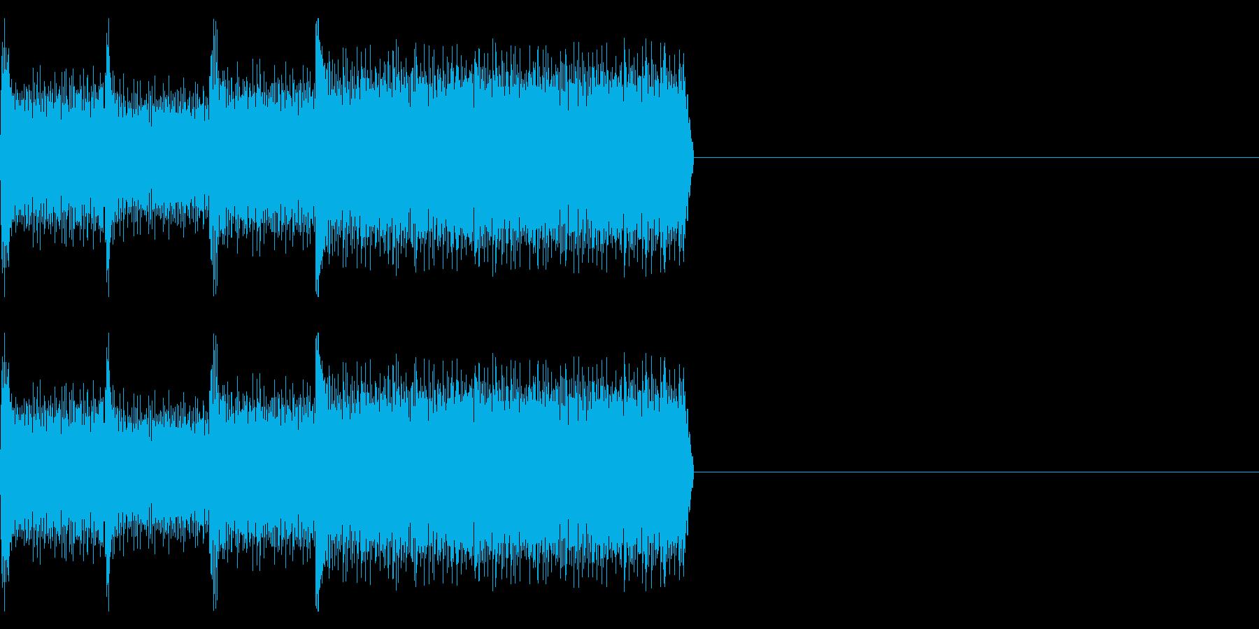 「デレレレー」不吉、ゲームオーバーの再生済みの波形