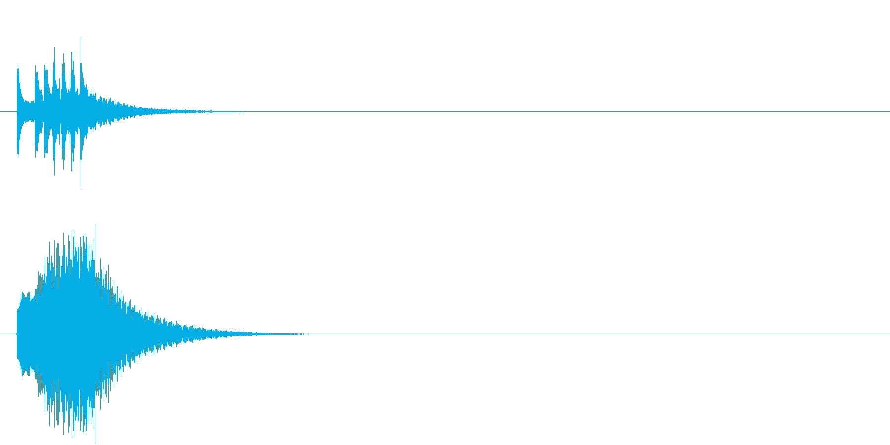 スマホアプリ等で使えるキラキラSE イ…の再生済みの波形