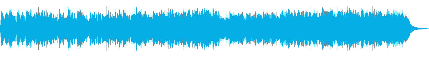 [瞑想]不思議な感覚のノイズミュージックの再生済みの波形
